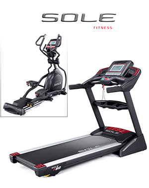 Sole Fitness treadmill and Elliptical